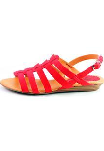 Sandália Infinity Shoes Anabela Vermelho