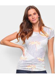 Blusa Lez A Lez Malha Cotton Thirty Feminina - Feminino-Branco+Roxo