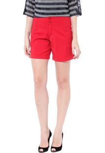 Bermuda Energia Fashion 1/2 Coxa Vermelho