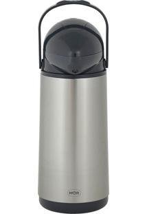 Garrafa Térmica De Pressão Nobile Inox 1 Litro Mor 25101901