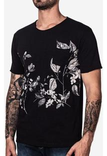 Camiseta Floral Branco 100808