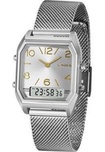 Relógio Lince Feminino Urban Anadigi Prata Lamh118L-S2Sx - Feminino-Prata