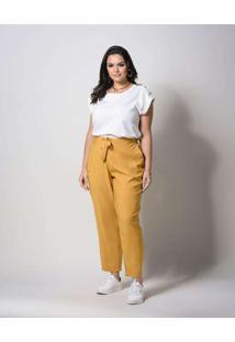 Blusa Almaria Plus Size New Umbi Com Botão Ombro B