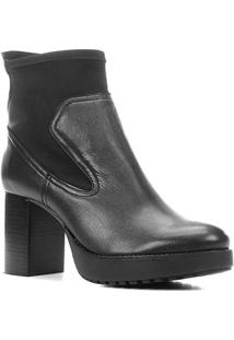 Bota Couro Shoestock Cano Curto Meia Pata Feminina - Feminino