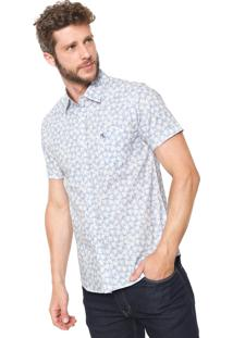 Camisa Red Nose Reta Tropical Azul