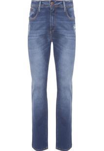 Calça Masculina Jeans 5 Pockets Straight - Azul
