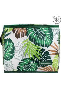 Bolsa Térmica Folhas- Branca & Verde- 24X21X27Cmjacki Design