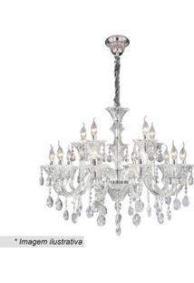 Lustre Maria Thereza- Cristal & Inox- 31X54X75Cmhevvy