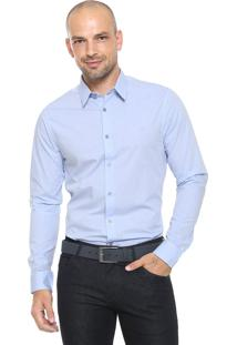 Camisa Calvin Klein Slim Padronagem Azul
