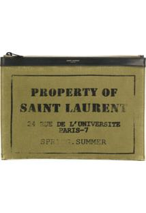 Saint Laurent Clutch 'Amy' - Green