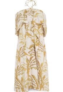 74b1ec325 ... Vestido Curto Coqueiros Dourados Animale - Off White