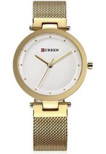 Relógio Curren Analógico C9005L - Feminino-Dourado