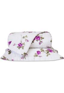 Cobre Leito Standard Flores Pink Queen 160 Fios 03 Peã§As Dourados Enxovais - Rosa - Dafiti