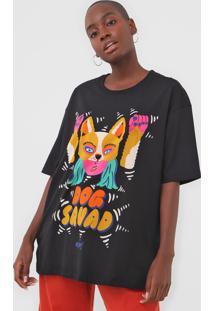Camiseta Oh, Boy! Dog Squad Preta