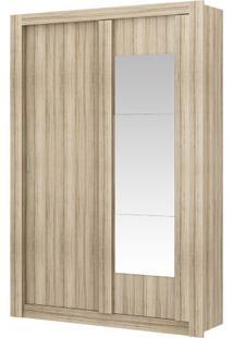 Guarda-Roupa Elus Com Espelho - 2 Portas - Anís Ou Anís Com Camurça