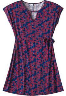 1938c9423 ... Vestido Viscose Stretch Floral Wee! Plus Size - Feminino-Vermelho+Azul