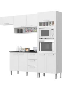 Cozinha Yasmin Branco C/ Tampo Genialflex Móveis