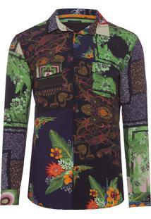 Camisa Masculina Scarf - Preto