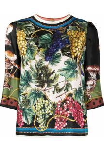 Dolce & Gabbana Blusa Com Estampa - Verde
