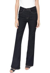 Calça Jeans Calvin Klein Jeans Flare Estonada Azul