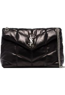 Saint Laurent Medium Loulou Puffer-Style Shoulder Bag - Preto