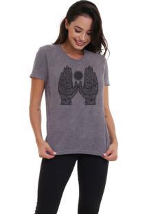 Camiseta Básica Jay Jay Hands Chumbo Dtg