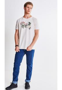 Camiseta Eco Lettering Floral