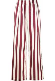 Jejia Calça Pantalona Com Listras - Neutro