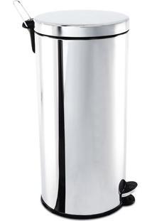 Lixeira Com Pedal & Balde- Inox- 67Xø32Cm- 30L