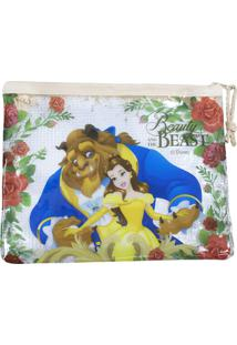 Necessaire Minas De Presentes Princesa Bela Bege