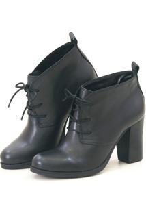 Ankle Boot 377 Agatha Levie Salto - Feminino-Preto