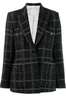 Sandro Paris Blazer De Tweed - Preto