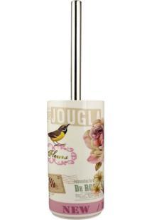 Porta Escova Sanitária Em Porcelana Chocolat Lombart Paris 1 Peça - Amigold