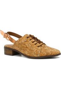 8871d89b1 Betisa. Chanel Tipo Moderno Marrom Amadeirado Sintético Cravo E Canela  Chanel Fivela Sapato