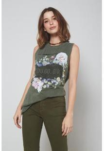 Blusa Oh,Boy! You Go Girl Selva Feminina - Feminino-Verde Militar