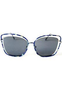 Óculos De Sol Cayo Blanco Fashion Feminino - Feminino-Azul