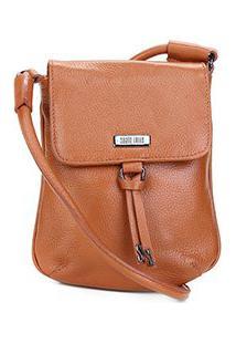 Bolsa Shoulder Bag Couro Santa Lolla Personalizada Logo - Feminino-Marrom