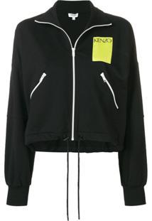 Kenzo Jaqueta Slim Com Logo - Preto