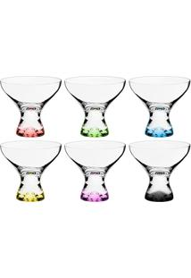 Conjunto De Taças Para Sobremesa Com 6 Unidades Bohemia Incolor E Colorido 330 Ml