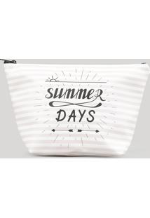 "Nécessaire Listrada ""Summer Days"" Rosa Claro - Único"