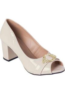 Sapato Marfim Em Sintético