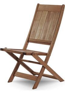 Cadeira Retangular Dobravel Acqualung+ S/Braco Stain Nogueira 99Cm - 61634 - Sun House