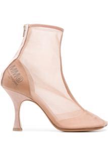Mm6 Maison Margiela Ankle Boot Translúcida - Neutro
