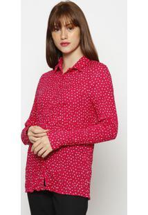 Camisa Floral Amassada- Pink & Brancahering