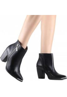 Bota Via Marte Ankle Boot Bico Fino 19-6057