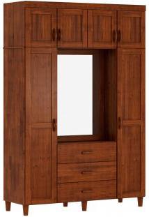 Guarda Roupa Capelão Finestra Ecco 07 Portas E 03 Gavetas C/01 Espelho Imbuia