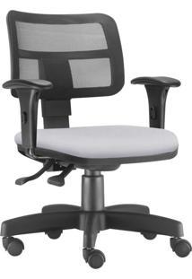 Cadeira Giratã³Ria Executiva Lyam Decor Zip Corino Branco - Branco - Dafiti