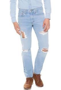 Calça Jeans Levis 511 Slim Masculino - Masculino-Azul Claro