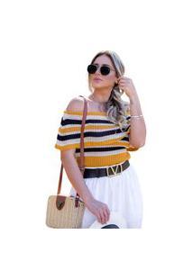 Blusa Tricot Clara Feminina Shopping Do Tricô Verão