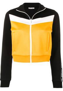 Miu Miu Jaqueta Color Block - Amarelo
